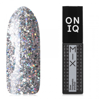 ONIQ, Гель-лак Mix №100s, Silver Holographic Shimmer
