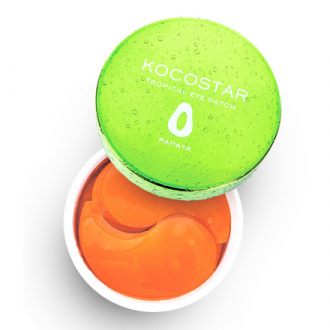 Kocostar, Гидрогелевые патчи для глаз Tropical, папайя, 30 пар