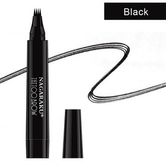 NAGARAKU, Лайнер для бровей 4D Tattoo Microblade, черный