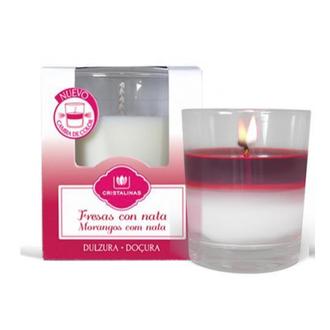 Cristalinas, Аромасвеча с запахом клубники со сливками