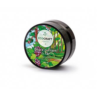 EcoСraft, Скраб для лица Black currant & tar, 60 мл