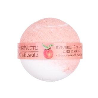 Кафе Красоты, Бурлящий шарик для ванны «Персиковый сорбет», 120 г