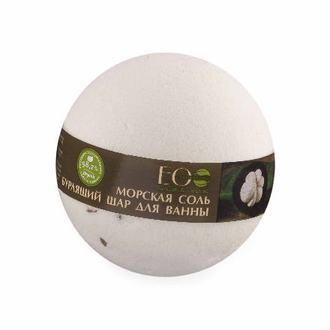 EcoLab, Бурлящий шар для ванны «Мангостин и ваниль», 220 г