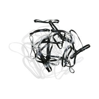 Dewal, Резинки для волос Mini, силиконовые, черные и белые, 50 шт.