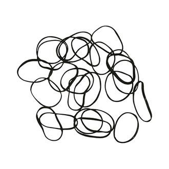 Dewal, Резинки для волос Mini, черные, 100 шт.