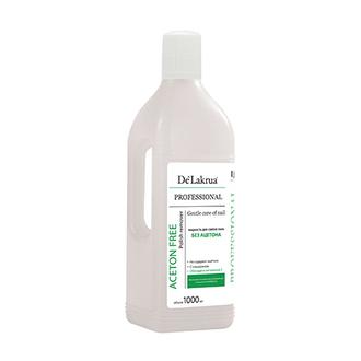De Lakrua Professional, Жидкость для снятия лака Acetone Free, 1000 мл