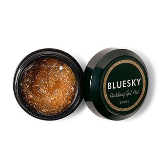 Bluesky, Полигель с шиммером Pudding Art, золото, 8 г