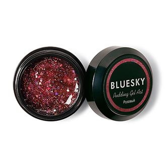 Bluesky, Полигель с шиммером Pudding Art, розовый, 8 г