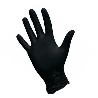 Nitrimax, Перчатки нитриловые черные, размер L, 100 шт.