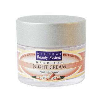 Mineral Beauty System, Ночной крем для лица Argan line, 50 мл
