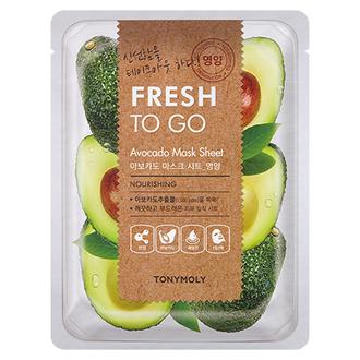 Tony Moly, Маска для лица Fresh To Go Avocado,  22 г