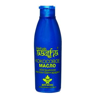 Aasha Herbals, Кокосовое масло с брингараджем для волос, 100 мл
