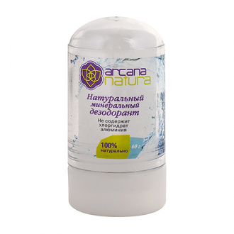 Arcana Natura, Натуральный минеральный дезодорант, 60 г