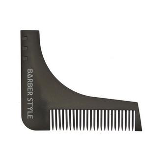 Dewal, Расческа для бороды, черная, 9,5х11 см