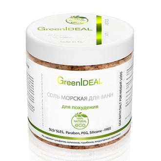 GreenIDEAL, Соль для ванн «Для похудения», 520 г