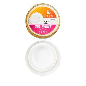 FOX, Гель-краска Gel Paint 001, 5 мл (УЦЕНКА)