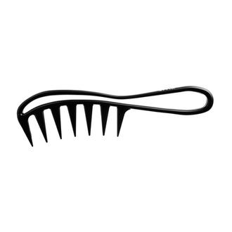 OLLIN, Расческа-гребень с крупными зубцами и ручкой, изогнутая