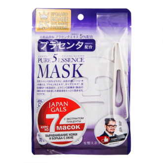 Japan Gals, Маска для лица Pure 5 Essence с плацентой, 7 шт.