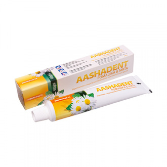 Aasha Herbals, Зубная паста «Ромашка и мята», 100 г