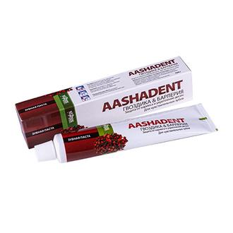 Aasha Herbals, Зубная паста «Гвоздика и барлерия», 100 г