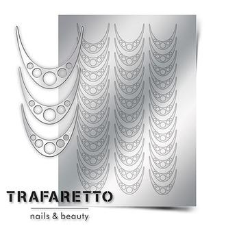 Метализированные наклейки серебро