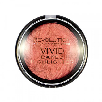 Makeup Revolution, Хайлайтер Vivid Baked, Rose Gold Lights