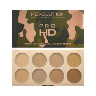 Makeup Revolution, Набор консилеров на палетке Ultra Pro HD Camouflage, Light Medium