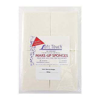 Soft Touch, Латексные спонжи для макияжа «Вельвет», 96 шт.