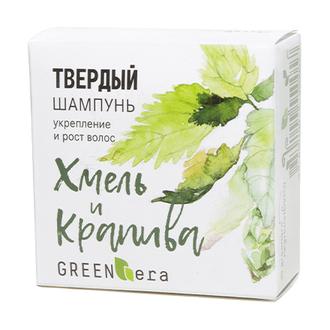Green Era, Твердый шампунь «Хмель и крапива», 55 г