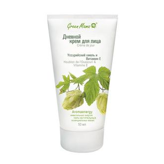 Green Mama, Дневной крем для лица «Уссурийский хмель и витамин Е», 50 мл