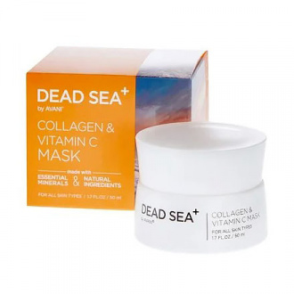 Dead Sea+, Маска для лица Collagen & Vitamin C, 50 мл