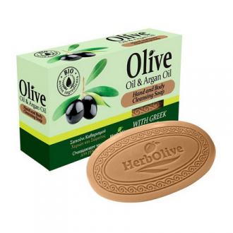 HerbOlive, Мыло для рук и тела Oil & Argan Oil, 90 г