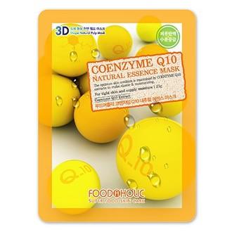 Foodaholic, Тканевая маска для лица Coenzyme Q10, 23 г