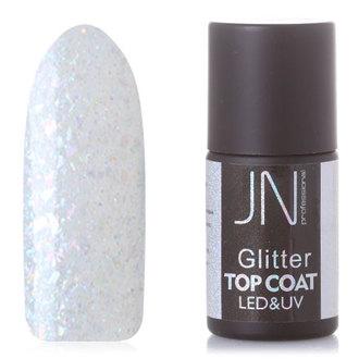 JessNail, Топ без липкого слоя Glitter №08, 10 мл
