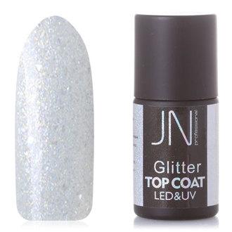 JessNail, Топ без липкого слоя Glitter №17, 10 мл