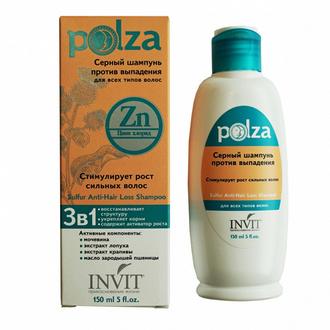 INVIT, Серный шампунь против выпадения волос Polza, 150 мл