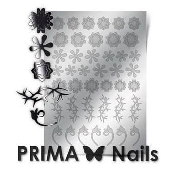 Prima Nails, Металлизированные наклейки FL-01, серебро