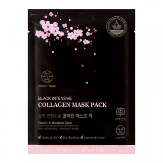 HANIxHANI, Тканевая маска для лица Black Intensive Collagen, 25 мл
