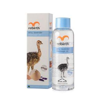 Rebirth, Масло для массажа Emu Lavender, 125 мл