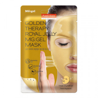 Purederm, Маска для лица Golden Therapy Royal Jelly, 23 г