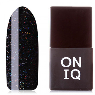Гель-лак ONIQ Pulsar №157, Glimmering Black