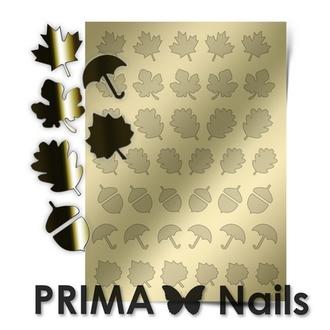 Prima Nails, Металлизированные наклейки FL-06, золото