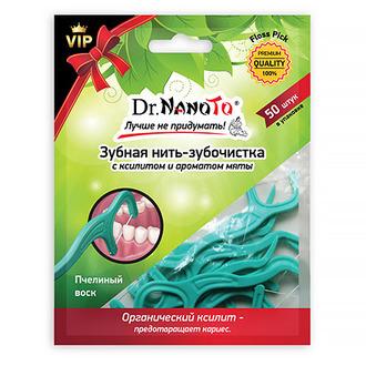 Dr.NanoTo, Зубная нить Floss Pick, 50 шт.