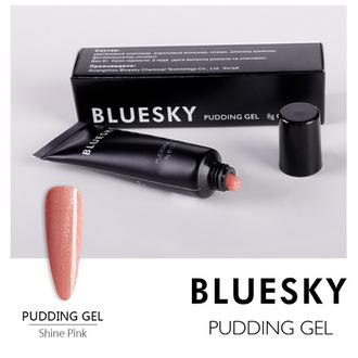 Bluesky, Pudding Gel камуфлирующий, Shine Pink, 8 г