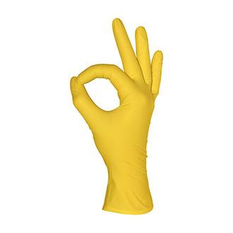 Mediok, Перчатки нитриловые, желтые, размер XS, 100 шт.