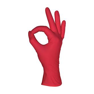 mediOk, Перчатки нитриловые, красные, размер XS, 100 шт.