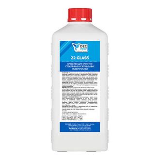 DEC PROF, Средство для очистки стеклянных и зеркальных поверхностей, 1 л