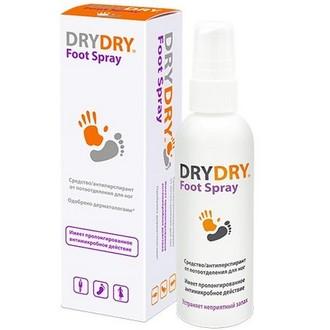 DRY DRY, Антиперспирант Foot Spray, 100 мл