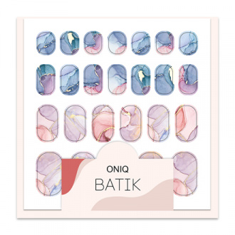 ONIQ, Термопленка для дизайна ногтей Skin, Batik №1