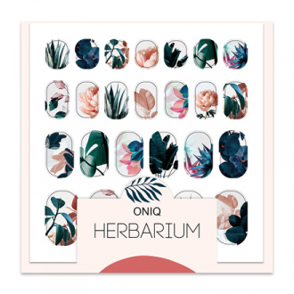 ONIQ, Термопленка для дизайна ногтей Skin, Herbarium №1